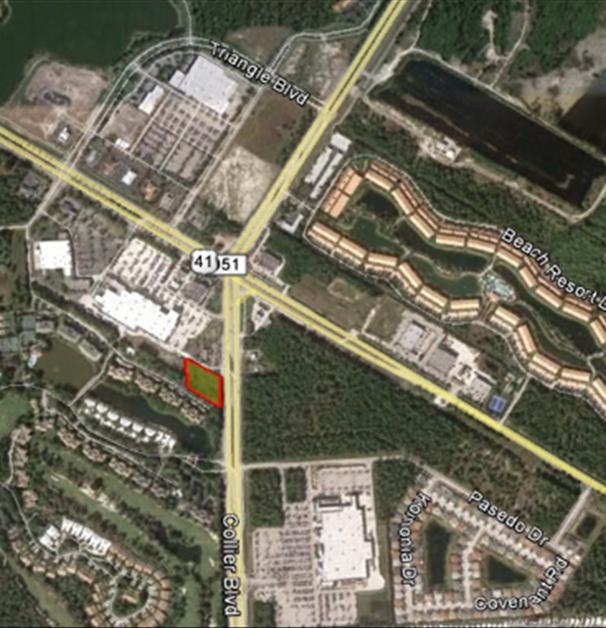 Satellite Map of 6565 Collier Blvd, Naples Commercial Properties for Lease | Baldridge Properties