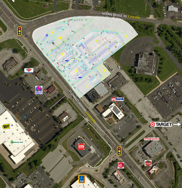 Satellite Map of 12433 St. Charles Rock Road, Bridgeton, MO | Baldridge Properties