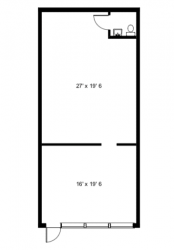 Unit Layout of 13800 Tamiami Trail Unit 109, Naples Commercial Properties for Lease | Baldridge Properties