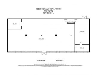Unit Layout of 13800 Tamiami Trail Unit 112, Naples Commercial Properties for Lease | Baldridge Properties
