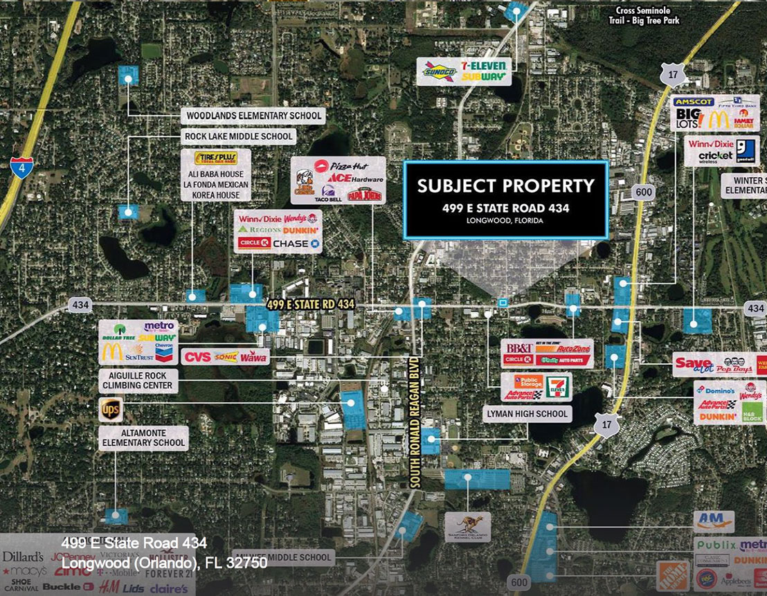 Commercial Property in Orlando, Florida - 499 E State Road 434, Longwood (Orlando), FL, 32750 | Baldridge Properties