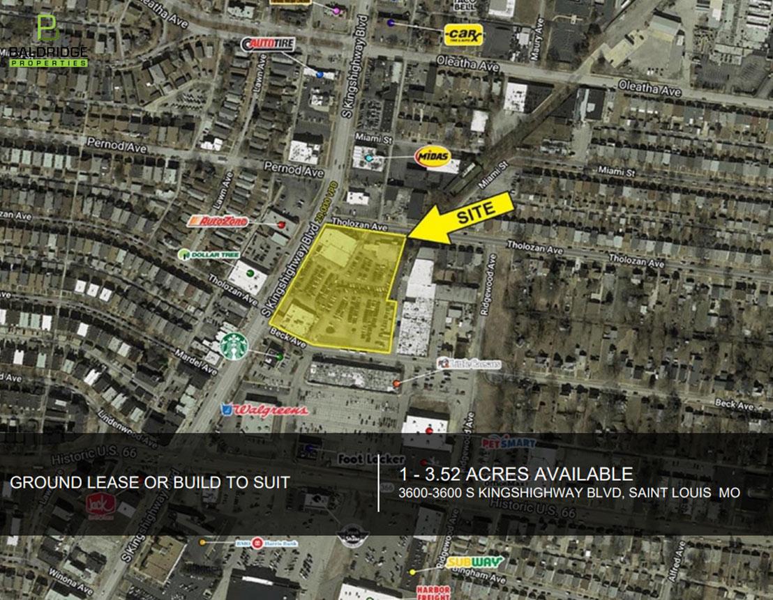 Commercial Property for lease Missouri: 3600-3636 S Kingshighway Blvd, Saint Louis, MO, 63109 | Baldridge Properties